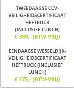 Tip: een heftruckcertificaat halen bij Wesseldijk